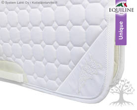 Equiline Koulusatulahuopa Octagon Gamet FDN White - EQUILINE Unique Satulahuovat - B11163-FDN001 - 1
