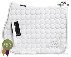 Equiline Estesatulahuopa Octagon Pamila White - EQUILINE Satulahuovat - B11100-N0103 - 1