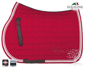 Equiline Estesatulahuopa Octagon Katia N Vermilion Red - EQUILINE Satulahuovat - B11107-N-35 - 4