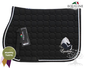 Equiline Estesatulahuopa Octagon Fay Black Pony - EQUILINE Satulahuovat - B11096N-006 - 1