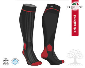 Equiline Tech-Tailored Professional Saapassukka Jason Black-Red - Saapassukat, Sukat - T11145 - 1