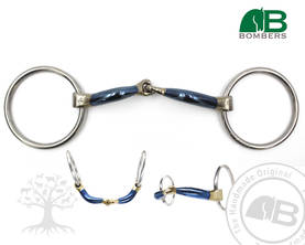 Bombers Bridong Loose Ring Snaffle Ultra Comfy Lock Up - Bombers Bridong - 30218-UC - 1