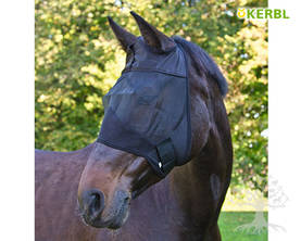Kerbl Fly Mask with Cut-Outs Ears Black - Kärpäshuput, hapsut, turpasuojat - 321351L - 1