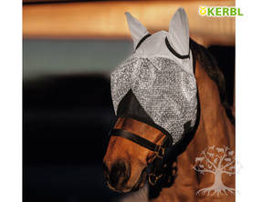 Kerbl Fly Mask with Ear Protection UV-suojattu - Kärpäshuput, hapsut, turpasuojat - 324515L - 1